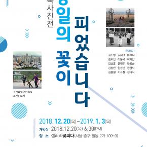 남북사진전 – 강의: 금강산통일미학을 위하여 2018.12.22. 13시. 갤러리 꽃피다